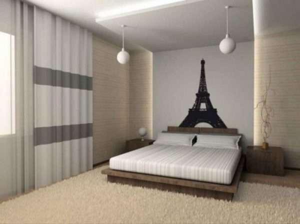 дизайн спальни 4 на 4 метра фото