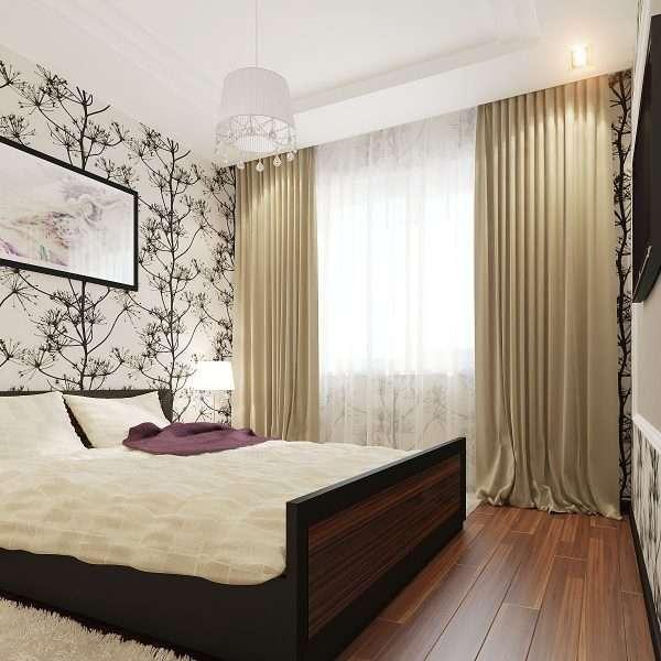 Пример освещения в маленькой спальне