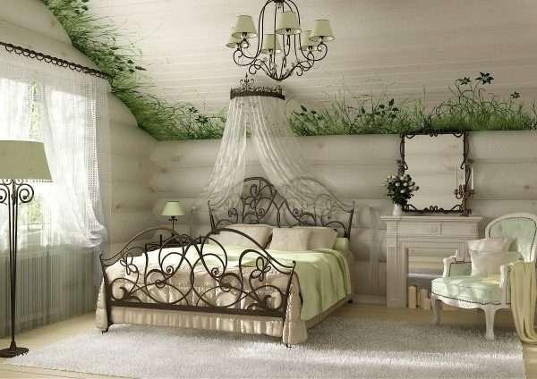 Кованая мебель для спальни на даче