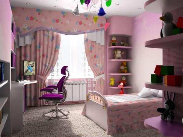 Зонирование пространства в детской комнате
