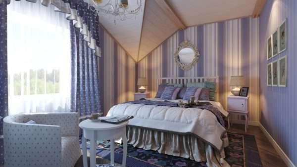 Спальня на даче в стиле прованс