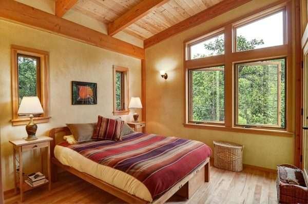 Дизайн интерьера спальни на даче в стиле фахверк
