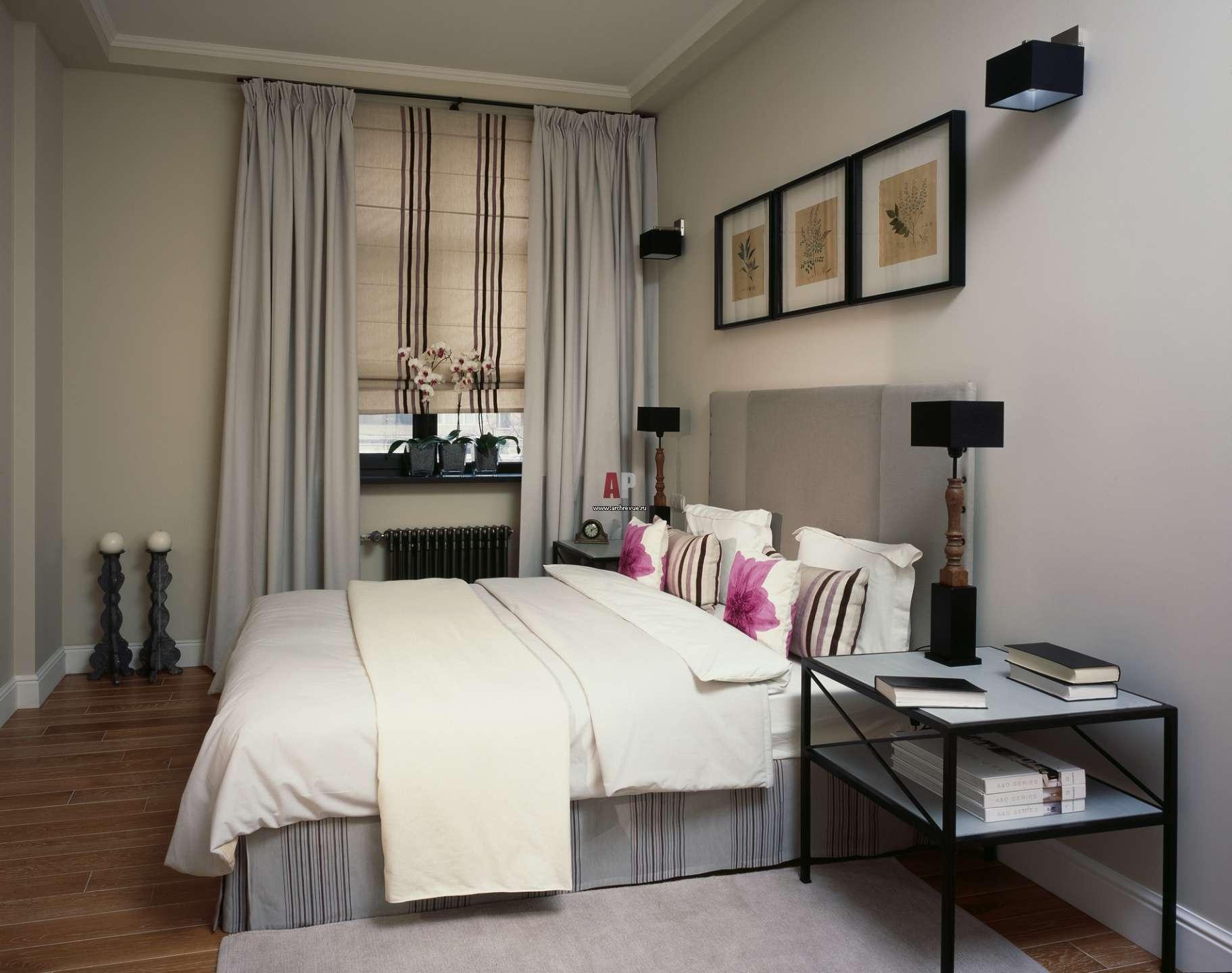 дизайн спальни 9 кв м в современном стиле фото