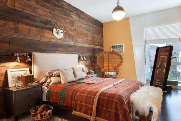 Геометрия в оранжевом цвете на покрывале для спальни
