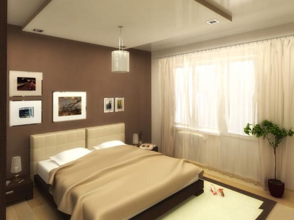 Использование прикроватных тумбочек в спальне 15 м