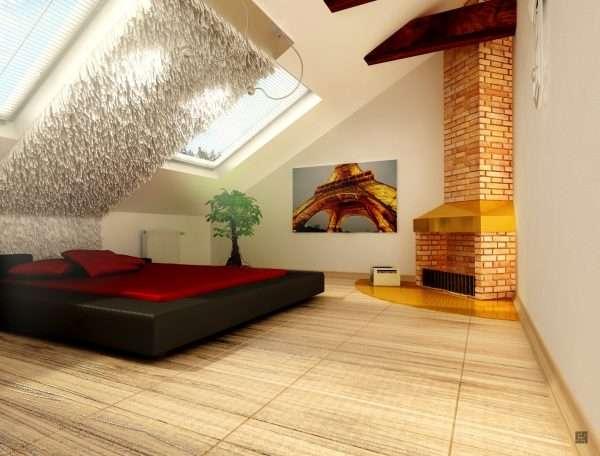 Освещение спальни на мансарде