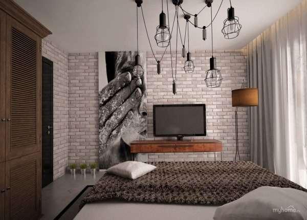 Оформление комнаты в стиле лофт