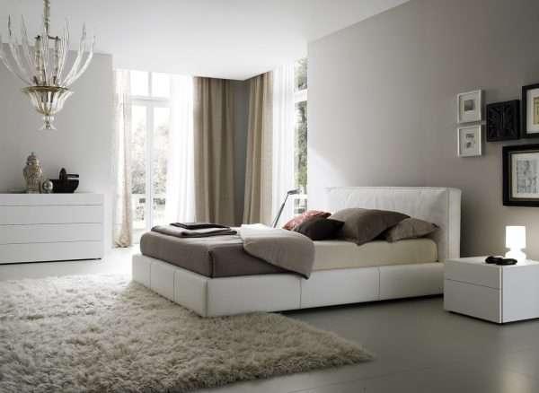 Монохромное цветовое оформление спальни