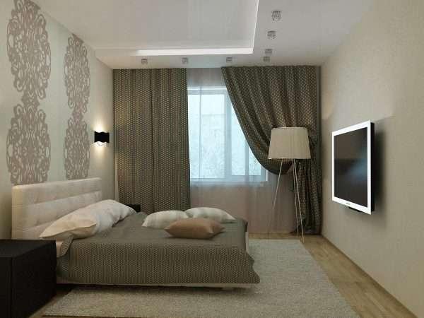 Мягкий ковер на полу для маленькой спальни