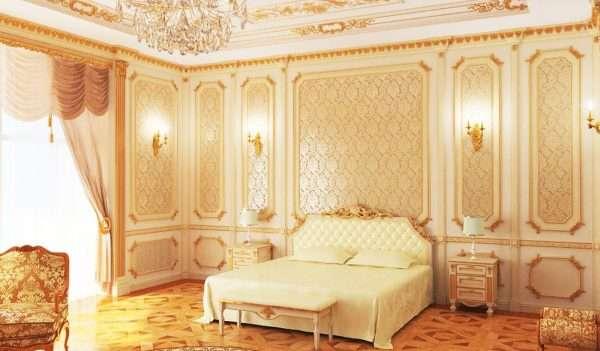 Оформление стен в стиле рококо