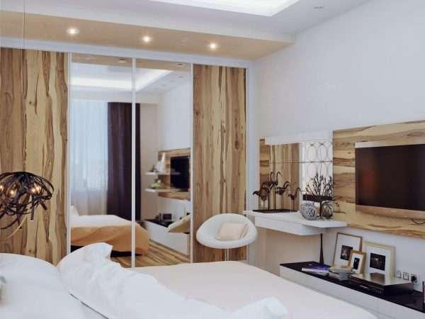 Спальная комната в светлых тонах