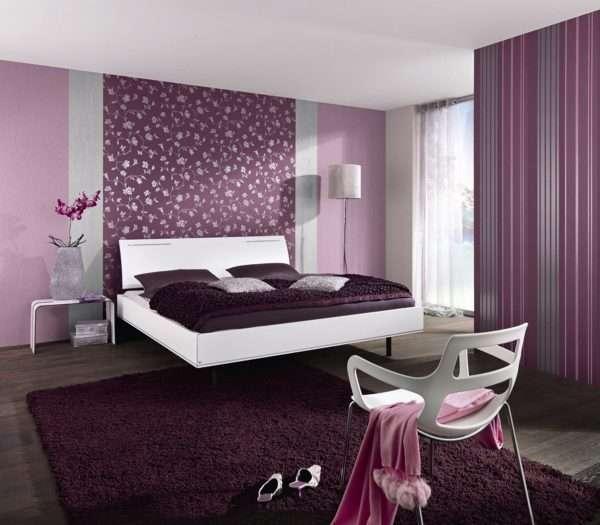 Выделение спального места с помощью обоев