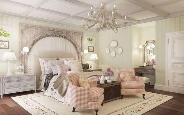 Балки на потолке - актуальны для стиля прованс