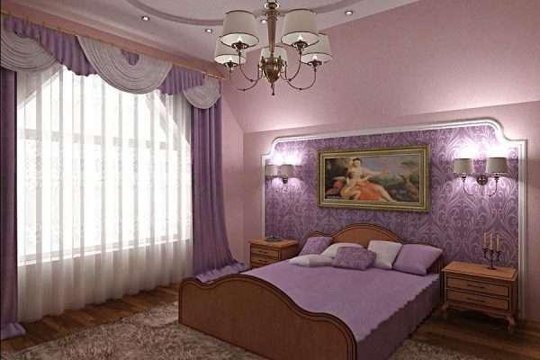 Дизайн спальни с виниловыми обоями