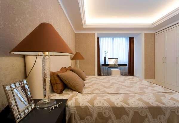 балкон - рабочая зона в спальне 12 м