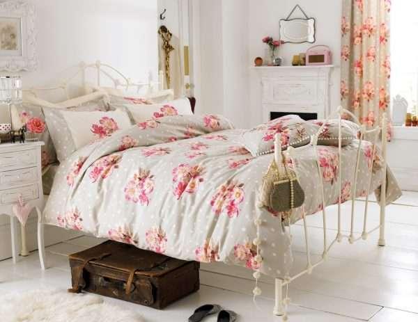 Текстиль для спальни в стиле прованс
