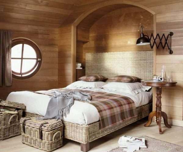 Плетеная мебель для спальни на даче