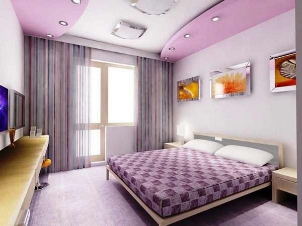 Пример освещения маленькой спальни