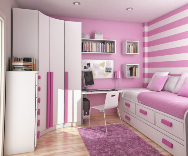 Мебель в спальню для девочки подростка.