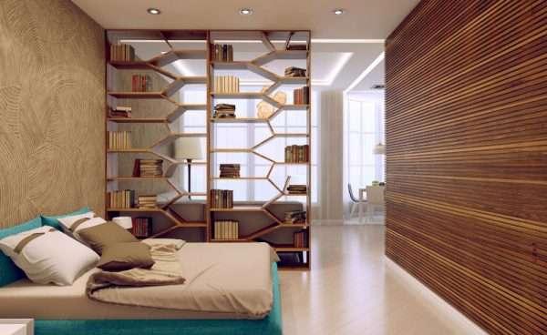 Зонирование спальни и рабочей зоны