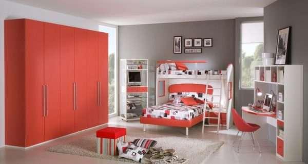 Спальня в современном стиле для двух девочек