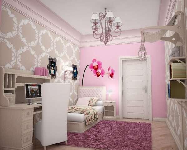 Спальня для девочки в винтажном стиле