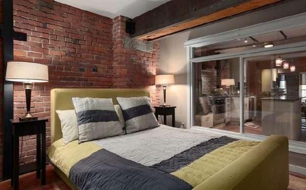 Спальня в стиле лофт - для тех, кто не боится экспериментов