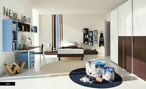Стиль минимализм в интерьере спальни для мальчика подростка