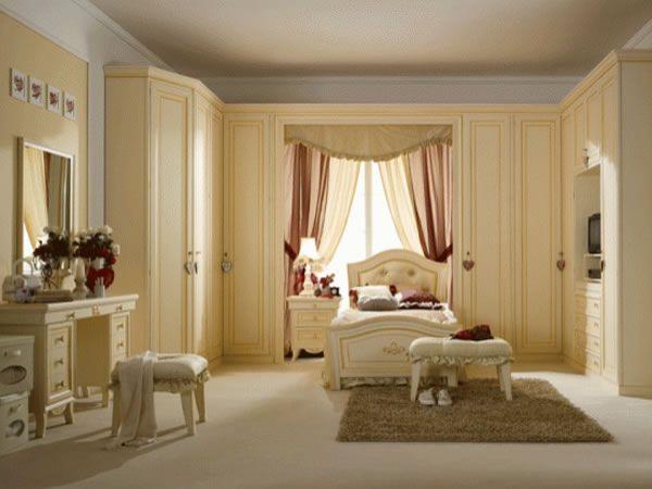 Светлая мебель для спальни для девочки подростка