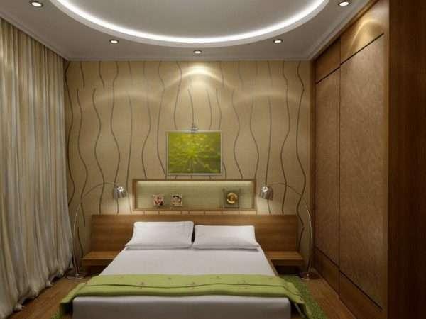 Дополнительные источники освещения в маленькой спальне