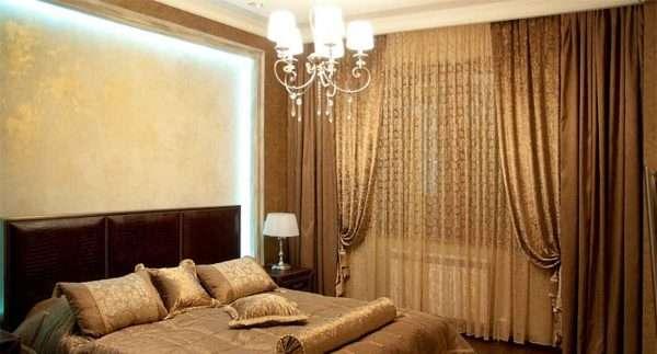 Дизайн штор для современной спальни