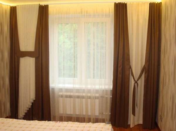 Прозрачные шторы в спальню