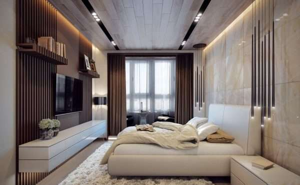 Стиль минимализм в дизайне спальни