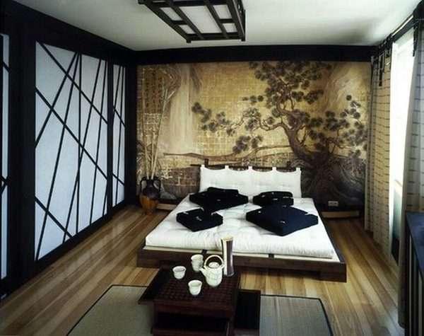 Спальня в стиле японского минимализма