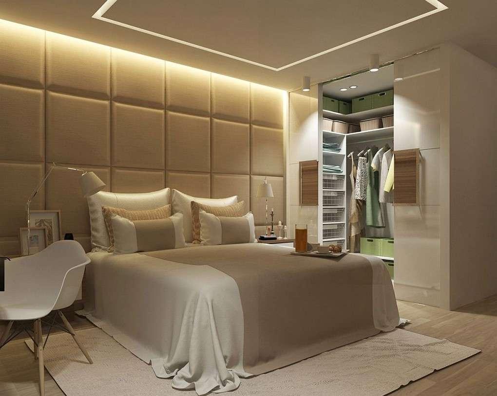 Фото Спальня С Гардеробной Комнатой  Дизайн Спальни С Угловой Гардеробной