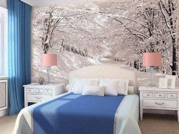 Холодные оттенки, обоев зрительно «увеличат» объем помещения.