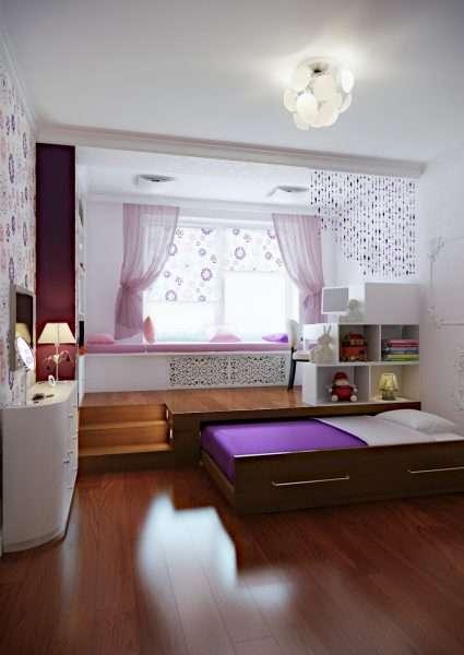Выдвижная кровать в маленькую спальню