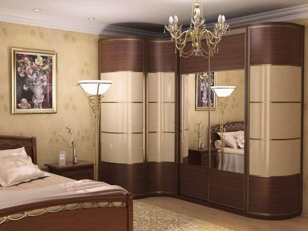 Оригинальный дизайн шкафа купе в спальню