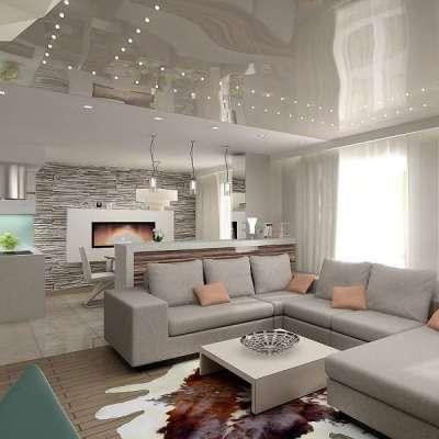 Зонирование квартиры-студии с помощью барной стойки