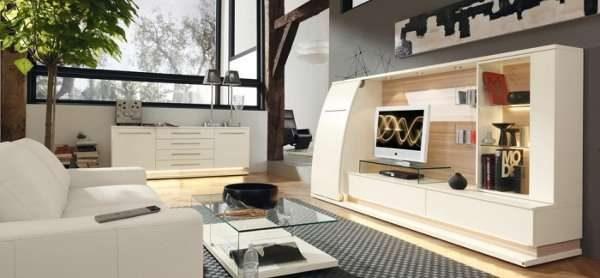 Многофункциональная мебельная стенка с телевизором