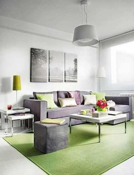 интерьер гостиной в серых модных тонах