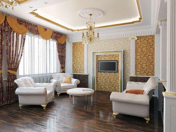 Дизайн гостинной комнаты 17 кв м