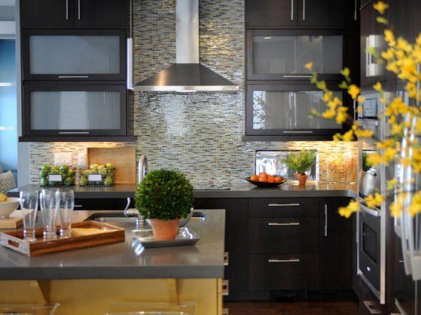 дизайн кухни гостиной 13 кв.м с рабочей зоной