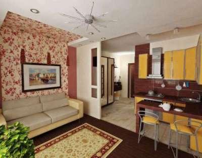 Дизайн кухни-гостиной 14 кв м