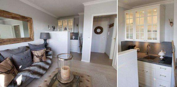 Дизайн кухни-гостиной 14 кв м с перегородкой