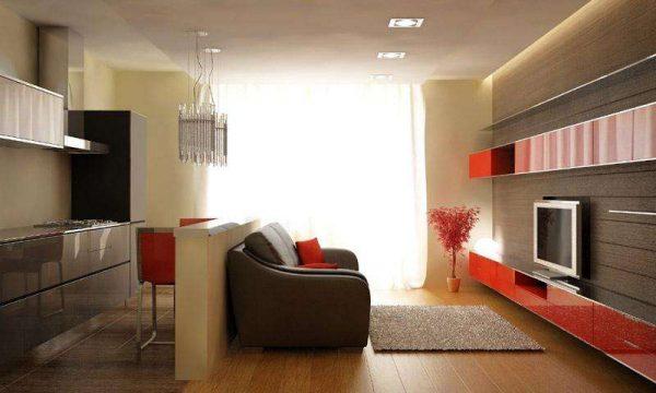 зонирование на кухне гостиной 14 кв. м.