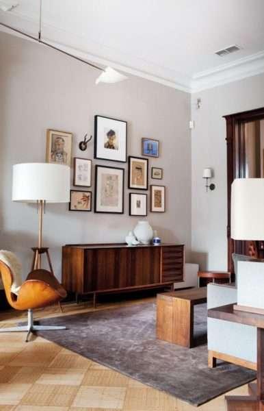 картины в интерьере современной гостиной модерн