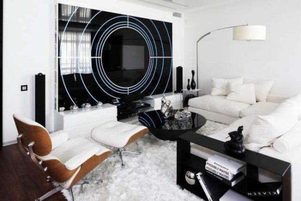 модерн в интерьере современной гостиной