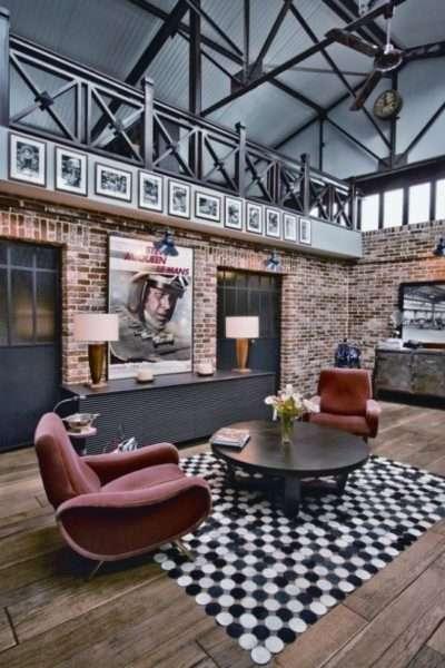 деревянные полы в современной гостиной