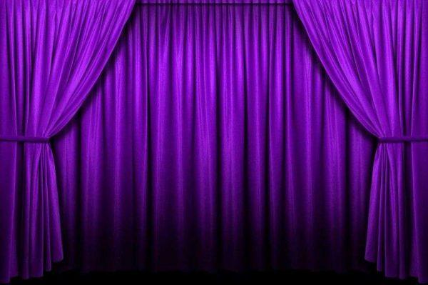 плотные насыщенные фиолетовые шторы